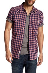 Lucky Brand San Gabriel Plaid Short Sleeve Regular Fit Shirt Multi