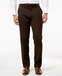 Louis Raphael Hidden Extention Straight Fit Dress Pants Brown