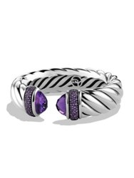 David Yurman Waverly Bracelet With Amethyst And Purple Sapphires Silver