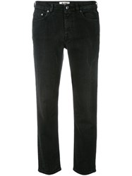 Acne Studios Tapered Cropped Jeans Black
