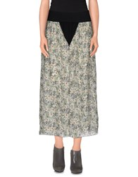 Rosamunda Skirts 3 4 Length Skirts Women Military Green