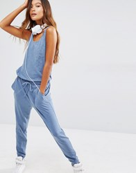 Sundry Cotton Jumpsuit Indigo Navy