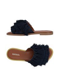 Max And Co. Sandals Dark Blue