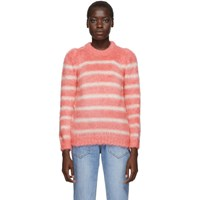 Sjyp Pink And White Stripe Puff Pullover