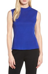 Ming Wang Women's Mock Neck Knit Tank Blue Flame
