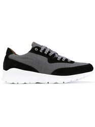 Paul And Joe Lace Up Sneakers Men Leather Nylon Rubber 43 Black