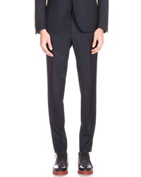 Berluti Straight Leg Wool Trousers Navy