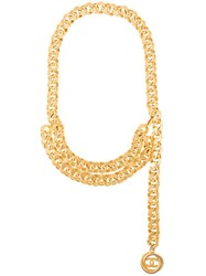 Chanel Vintage Multi Purpose Chain Necklace Metallic