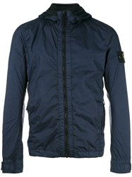 Stone Island Zip Up Sport Jacket Blue