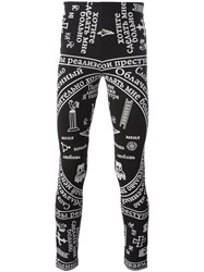 Ktz Church Print Leggings Black