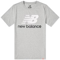 New Balance Essentials Stacked Logo Tee Grey