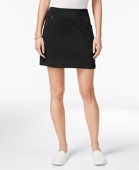 Styleandco. Style Co. Pull On Skort Only At Macy's Deep Black
