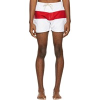 Saturdays Surf Nyc Red And White Grant Board Shorts