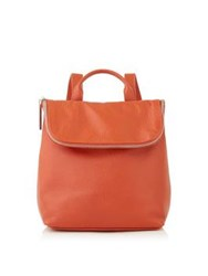 Whistles Mini Verity Leather Backpack Orange