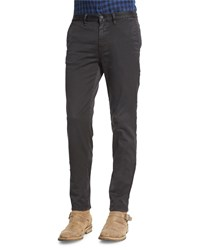 Belstaff Elgar Stretch Cotton Chino Pants Black