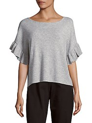 Saks Fifth Avenue Solid Cashmere Top Pure Snow
