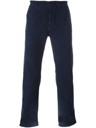 Massimo Alba Straight Trousers Blue