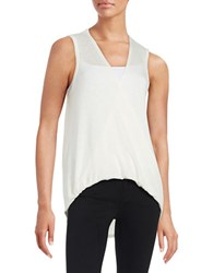 Design Lab Lord And Taylor Draped Knit Tank Top White