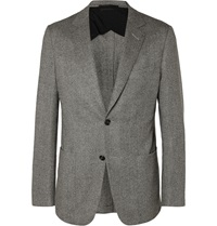 Dunhill Grey Fitzrovia Slim Fit Herringbone Tweed Blazer Gray