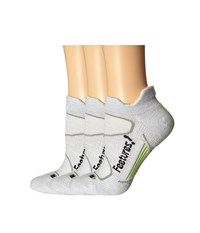 Feetures Elite Merino Light Cushion No Show Tab 3 Pair Pack Silver Black No Show Socks Shoes Gray