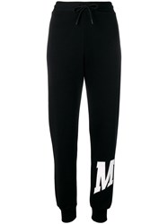 Msgm Logo Palm Tree Track Pants Black