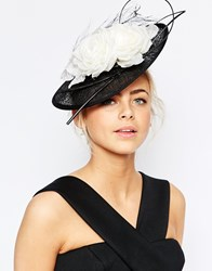 Coast Mono Flower Fascinator Black