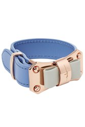 Marina Hoermanseder Leather Bow Bracelet Blue