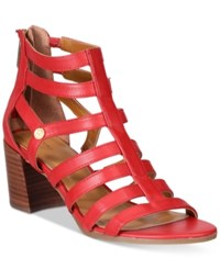 Tommy Hilfiger Cathy Gladiator Sandals Women's Shoes Red