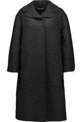 Dolce And Gabbana Oversized Cashmere Coat Charcoal
