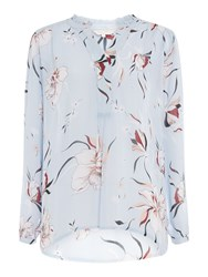 Part Two Hella Floral Long Sleeve Top Light Blue