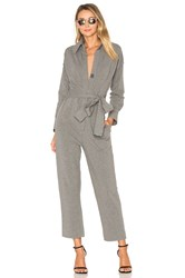 Norma Kamali Tapered Crop Jumpsuit Gray
