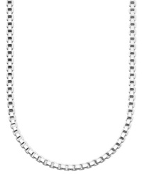 Giani Bernini Sterling Silver Necklace 18' Box Chain