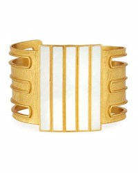 Stephanie Kantis Colorblocked Enamel Cuff Bracelet White