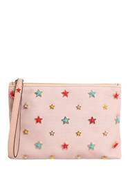 Red Valentino Multicolor Stars Canvas Pouch