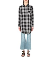 Rails Sawyer Plaid Shirt Dress Charcoal Black Check