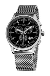 Akribos Xxiv Men's Chronograph Tachymeter Swiss Quartz Watch Metallic