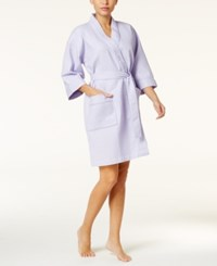 Charter Club Short Spa Waffle Robe Only At Macy's Light Amethyst