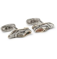 Paul Smith Brogue Enamel Silver And Gold Tone Cufflinks