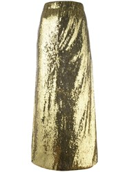 Misbhv Sequin Maxi Skirt Metallic