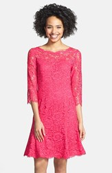 Eliza J Women's Lace Fit And Flare Dress Pink