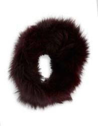 Adrienne Landau Fox Fur Headband Red