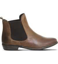 Office Dallas 2 Leather Chelsea Boots Brown Leather