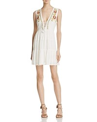 Band Of Gypsies Embroidered Dress Ivory