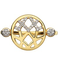 Links Of London Timeless Gold 18Ct Yellow Gold And Diamond Ring