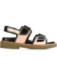 Marni Velcro Strap Sandals Nude And Neutrals
