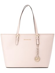 Michael Kors Jet Set Travel Tote Women Leather One Size Pink Purple