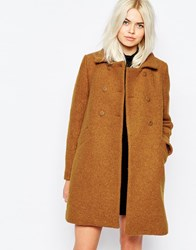 Monki 60'S Swing Coat Tobaccco