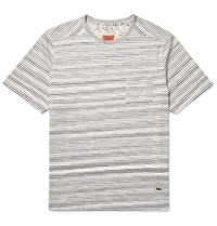 Missoni Striped Knitted Cotton T Shirt Off White