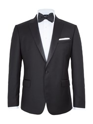 Paul Costelloe Men's Farnham Peak Lapel Dinner Suit Jacket Black
