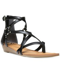 Fergalicious Dylan Demi Wedge Gladiator Sandals Women's Shoes Black